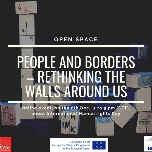 People and Borders – rethinking the walls around us, 8 December, online